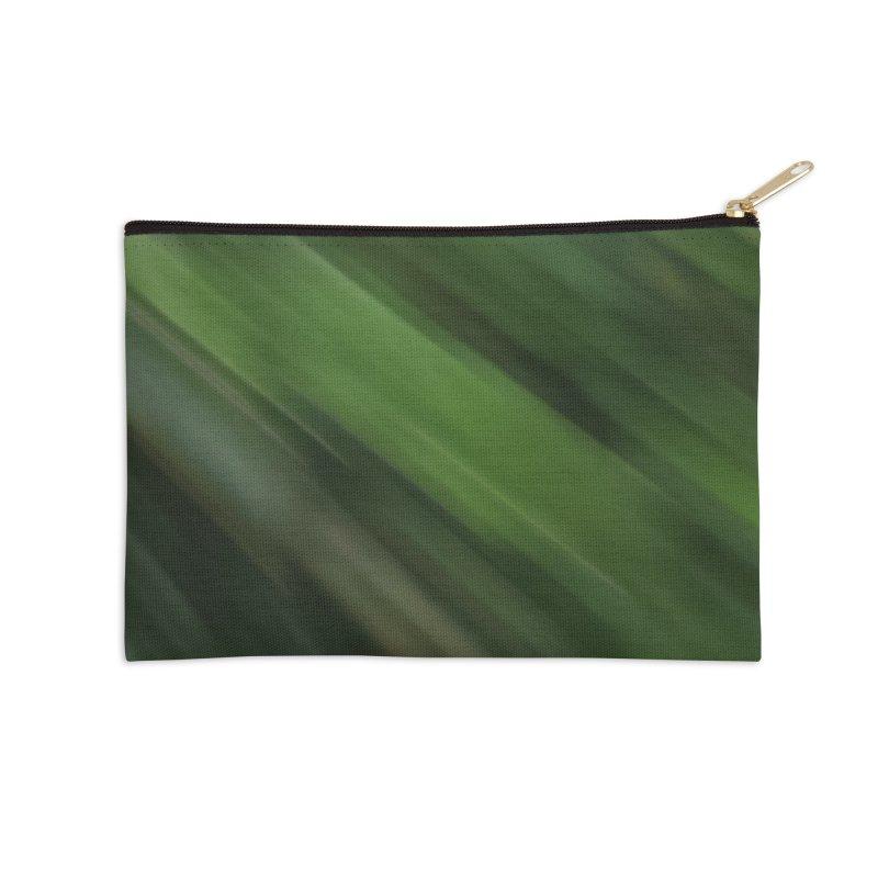 Dark Green Smudge Accessories Zip Pouch by Unhuman Design