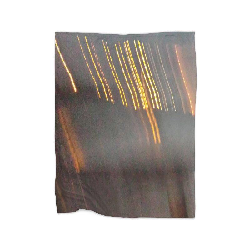 Gold Threads Home Fleece Blanket Blanket by Unhuman Design