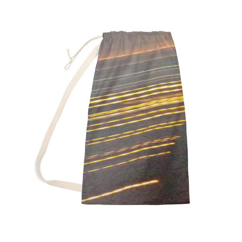Gold Threads Accessories Laundry Bag Bag by Unhuman Design