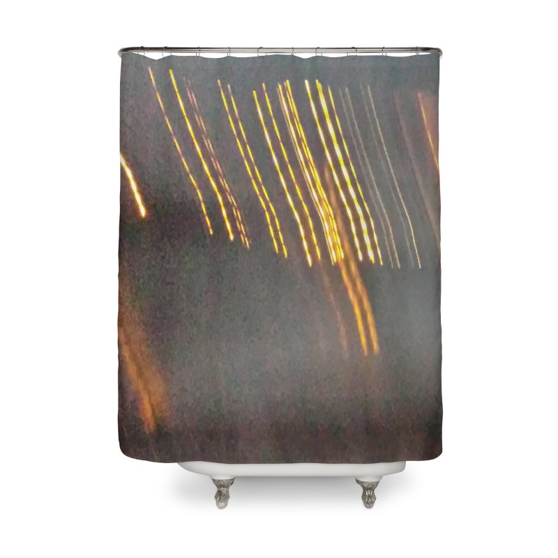Gold Threads Home Shower Curtain by Unhuman Design