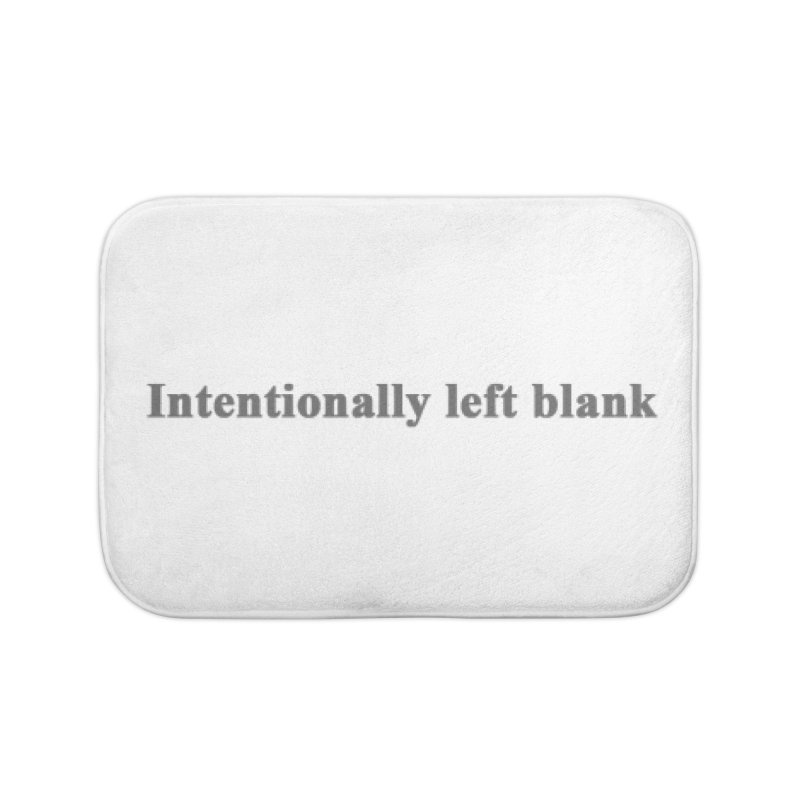 Intentionally left blank Home Bath Mat by Unhuman Design