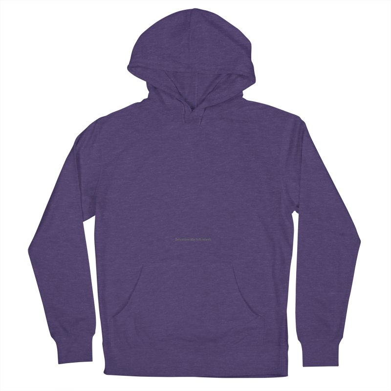 Intentionally left blank Men's French Terry Pullover Hoody by Unhuman Design