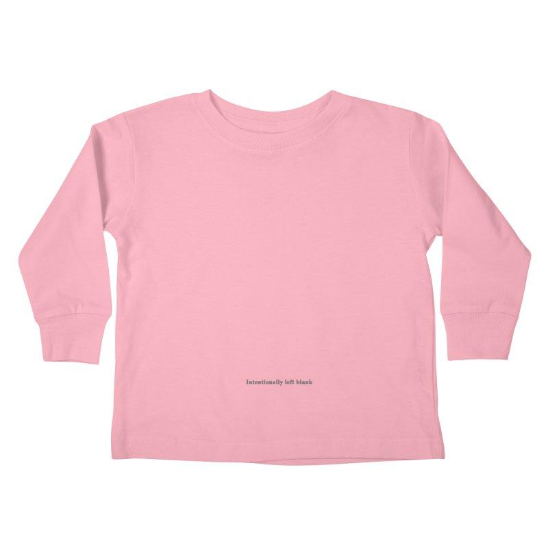 Intentionally left blank Kids Toddler Longsleeve T-Shirt by Unhuman Design
