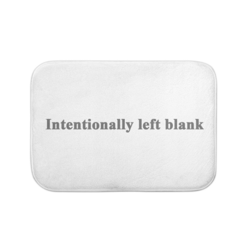 Intentionally left blank Home Bath Mat by Unhuman Design