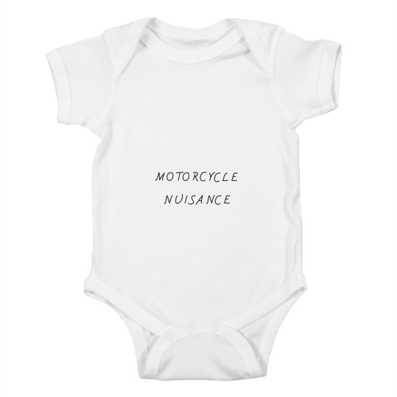 Motorcycle Nuisance Kids Baby Bodysuit by Unhuman Design