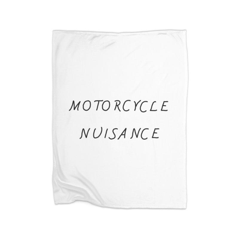 Motorcycle Nuisance Home Fleece Blanket Blanket by Unhuman Design