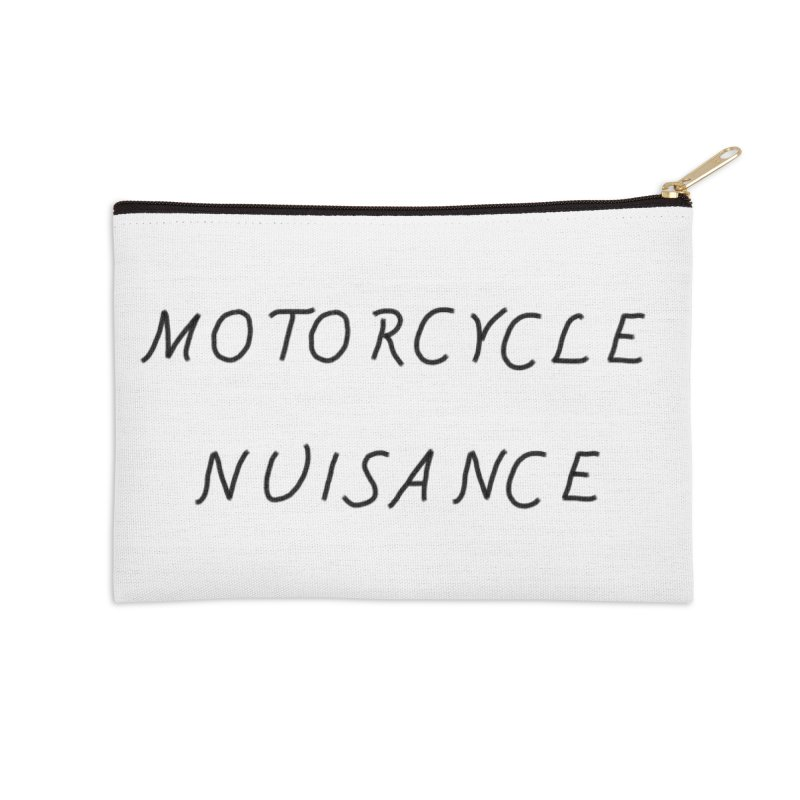 Motorcycle Nuisance Accessories Zip Pouch by Unhuman Design