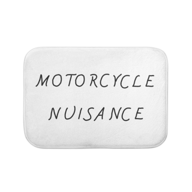 Motorcycle Nuisance Home Bath Mat by Unhuman Design