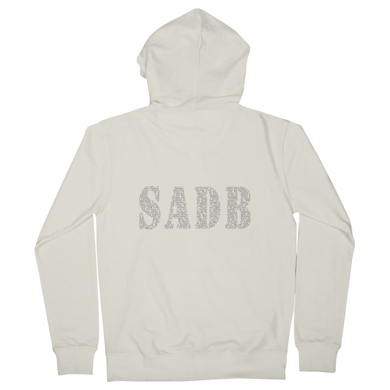 SADB Men's French Terry Zip-Up Hoody by Unhuman Design