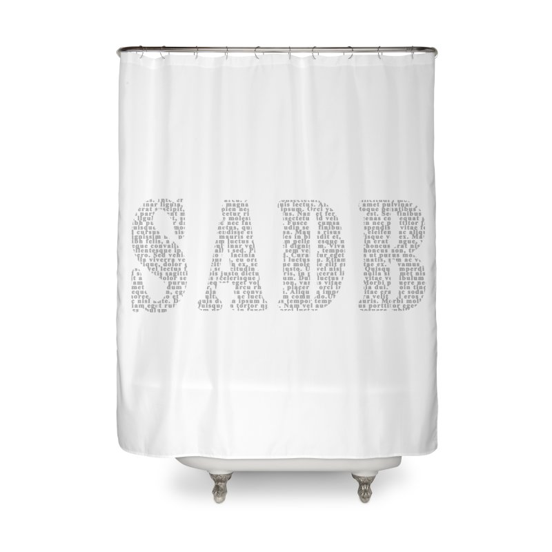 SADB Home Shower Curtain by Unhuman Design