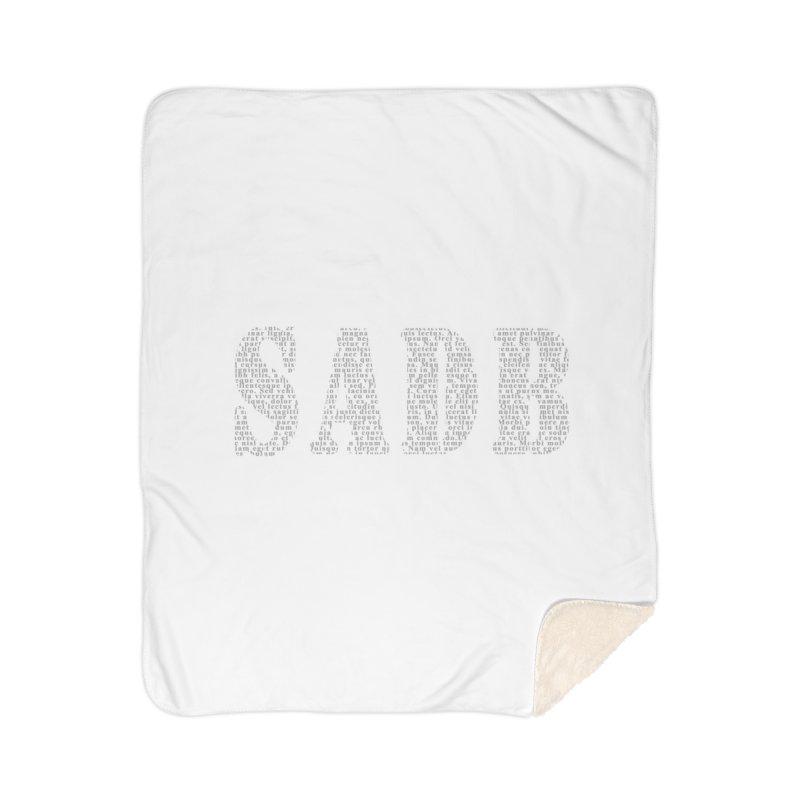 SADB Home Sherpa Blanket Blanket by Unhuman Design