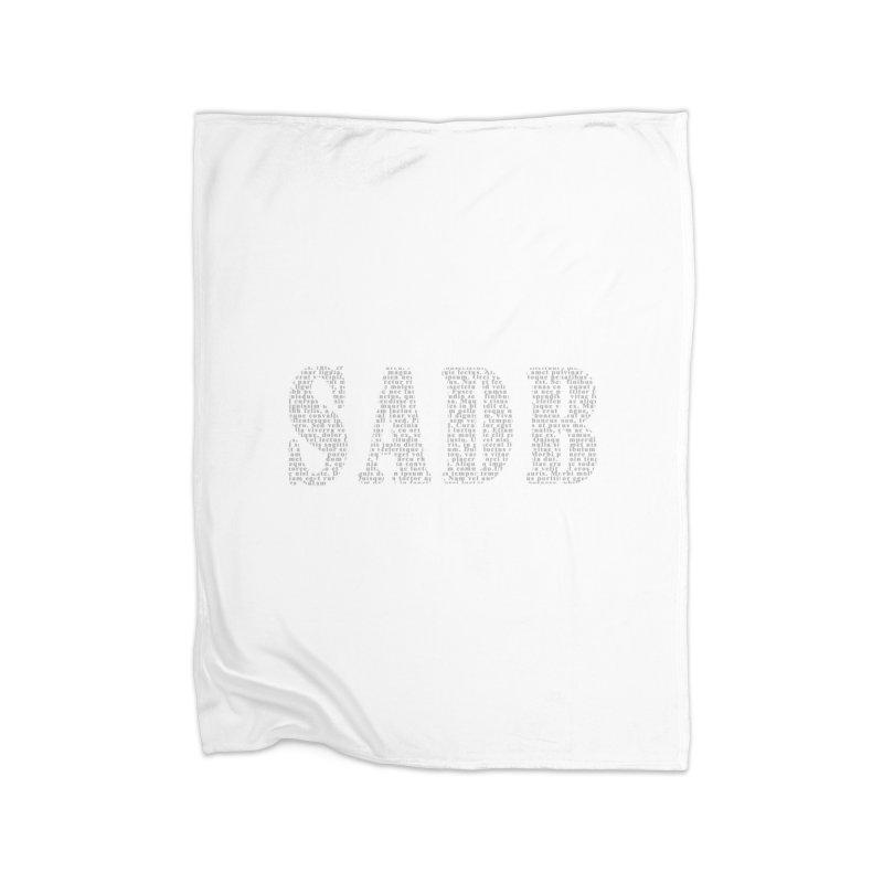 SADB Home Blanket by Unhuman Design