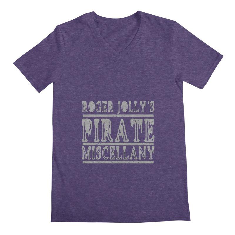 Roger Jolly's Pirate Miscellany Men's Regular V-Neck by Unhuman Design