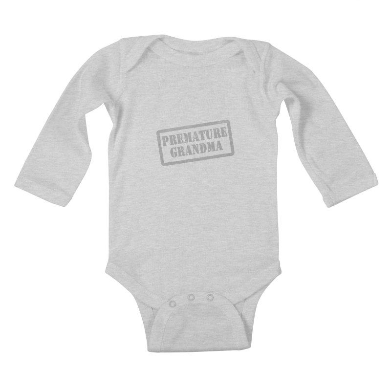 Premature Grandma Kids Baby Longsleeve Bodysuit by Unhuman Design