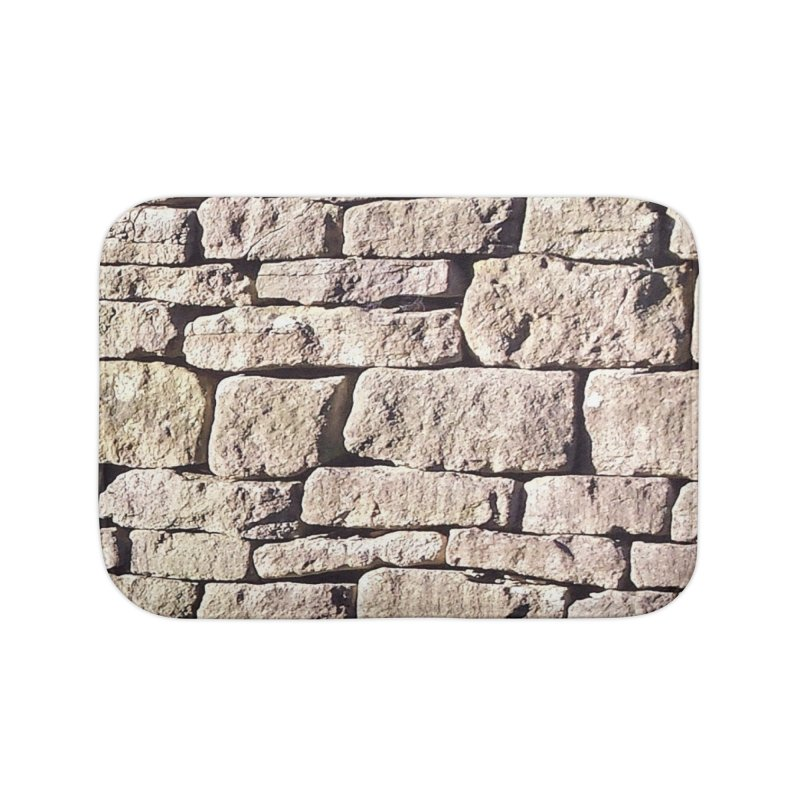 Stone Wall Home Bath Mat by Unhuman Design