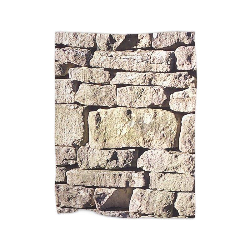 Stone Wall Home Fleece Blanket Blanket by Unhuman Design