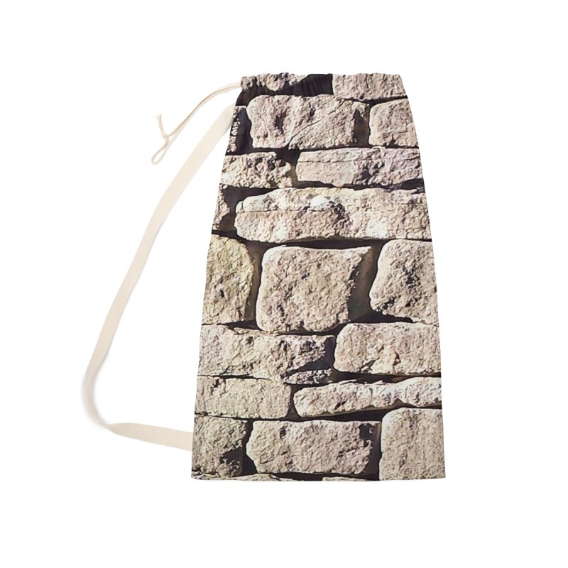 Stone Wall Accessories Laundry Bag Bag by Unhuman Design