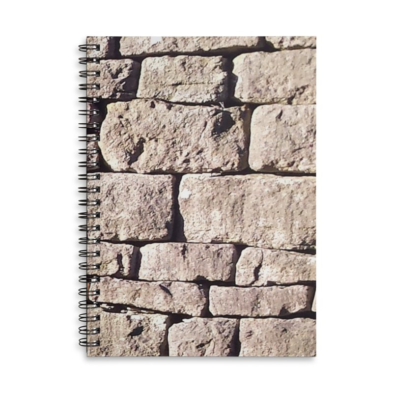 Stone Wall Accessories Lined Spiral Notebook by Unhuman Design