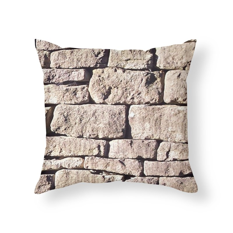 Stone Wall Home Throw Pillow by Unhuman Design