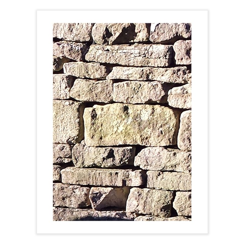 Stone Wall Home Fine Art Print by Unhuman Design
