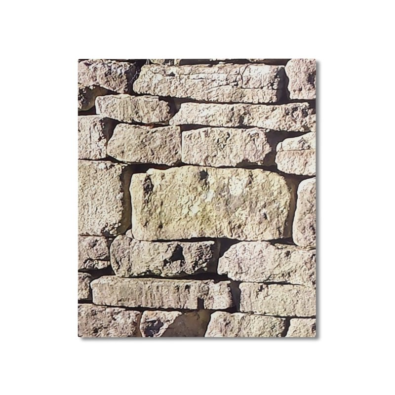 Stone Wall Home Mounted Aluminum Print by Unhuman Design