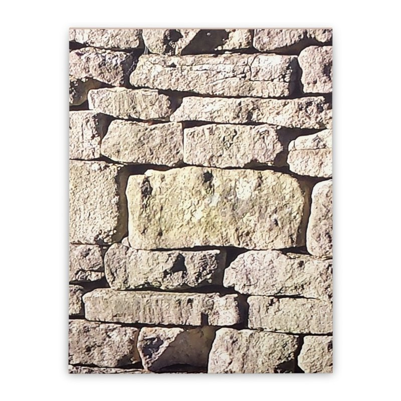 Stone Wall Home Stretched Canvas by Unhuman Design