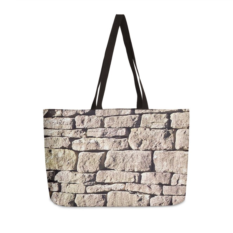 Stone Wall Accessories Weekender Bag Bag by Unhuman Design