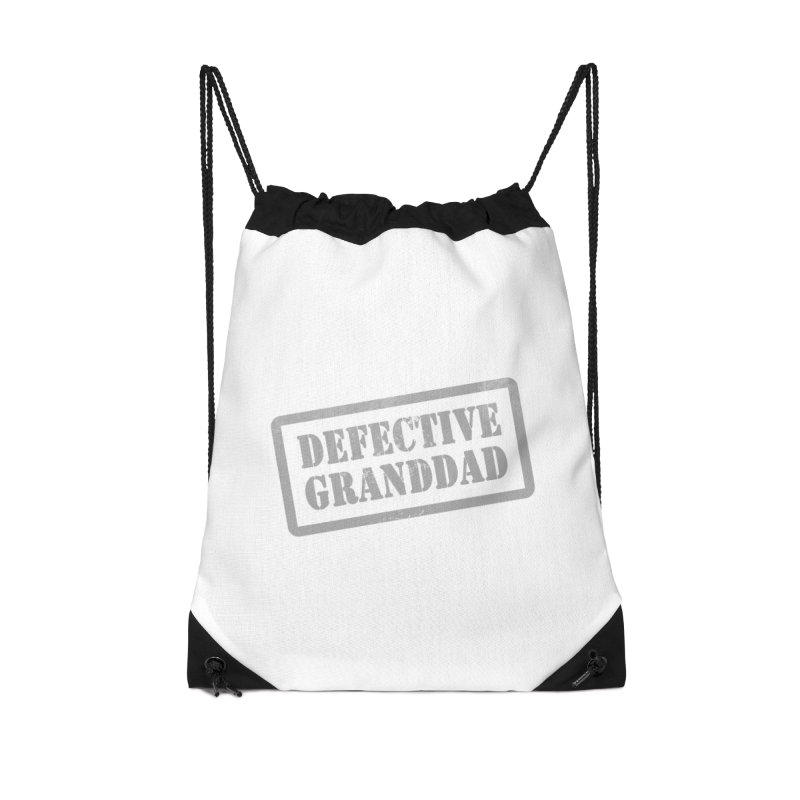 Defective Granddad Accessories Drawstring Bag Bag by Unhuman Design