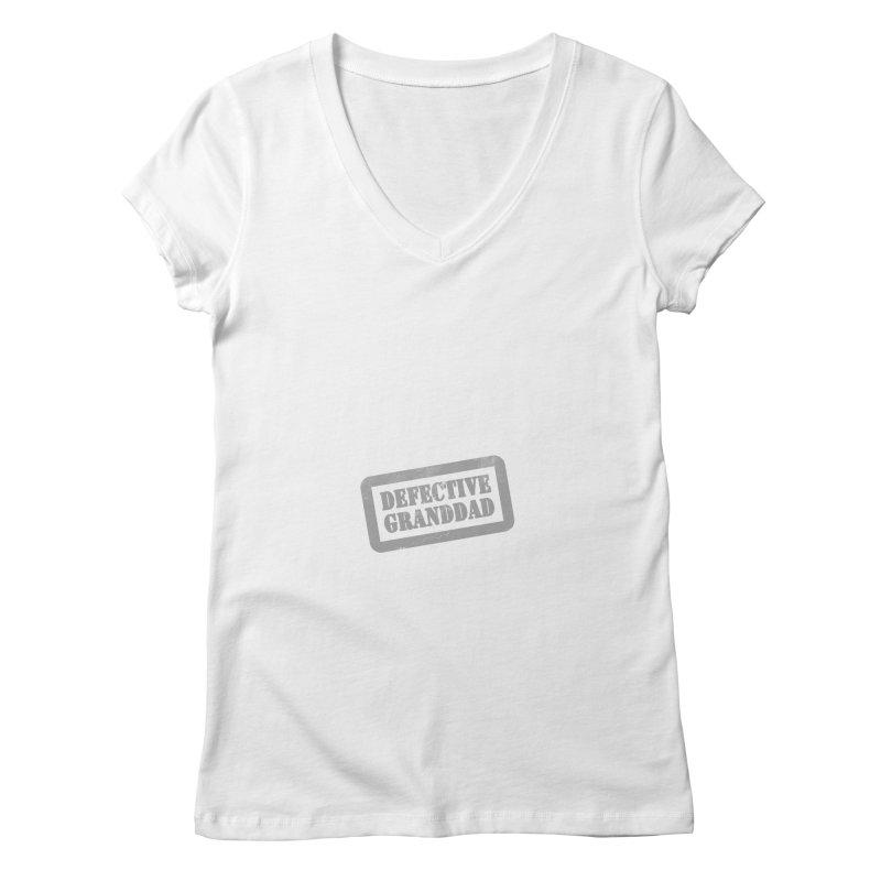 Defective Granddad Women's Regular V-Neck by Unhuman Design