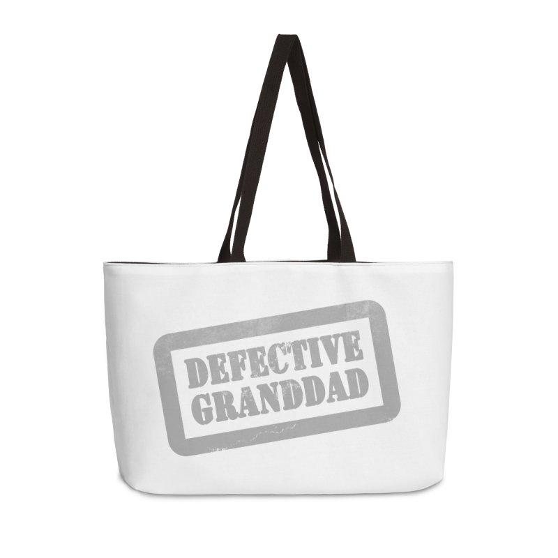 Defective Granddad Accessories Weekender Bag Bag by Unhuman Design