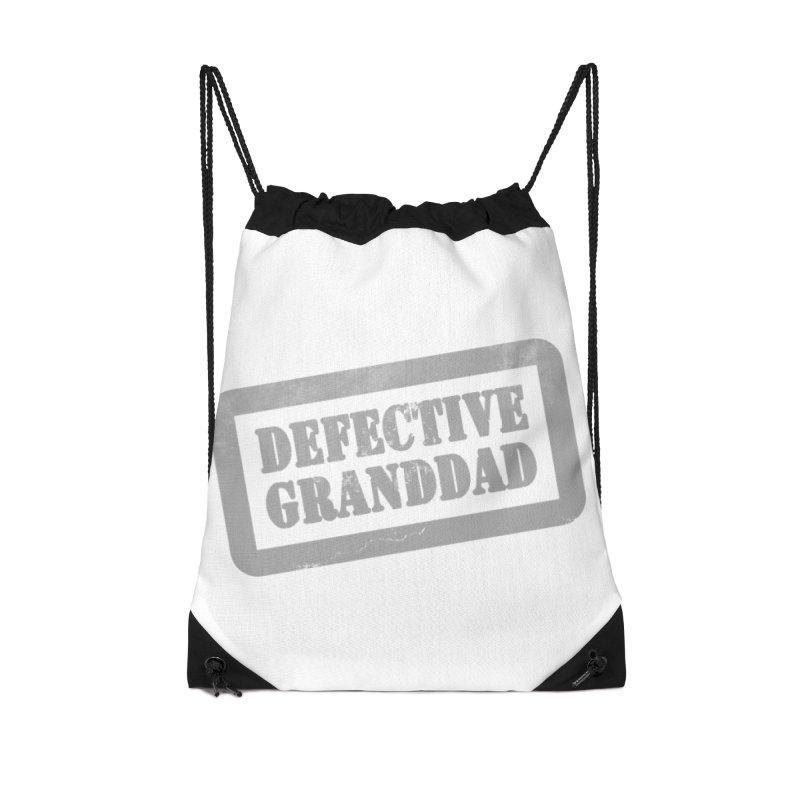 Defective Granddad Accessories Drawstring Bag Bag by Unhuman Design