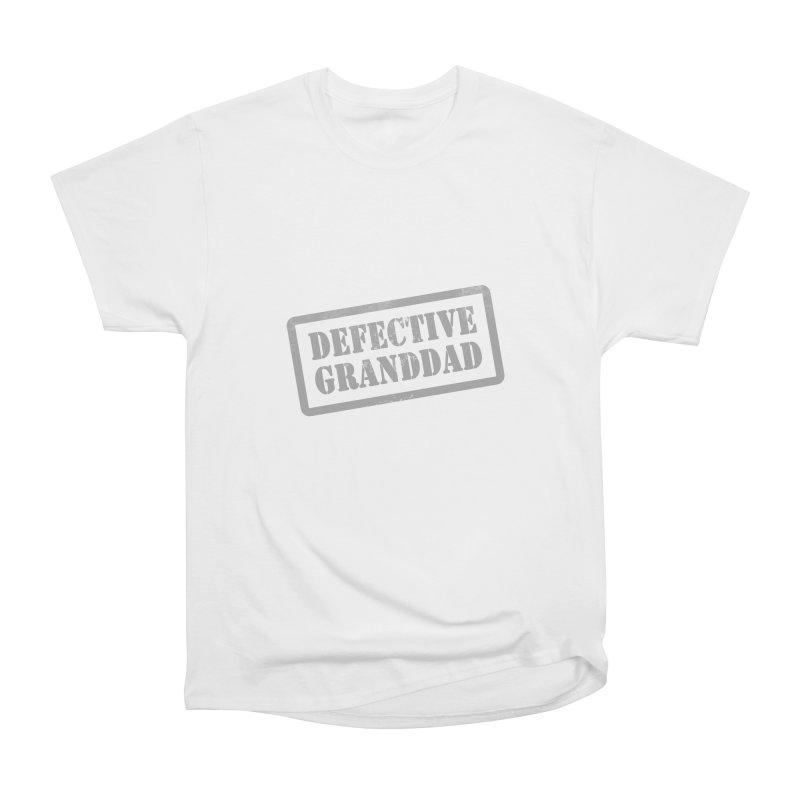 Defective Granddad Women's Heavyweight Unisex T-Shirt by Unhuman Design