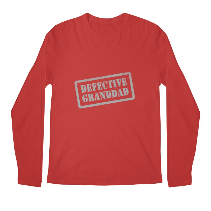 Defective Granddad Men's Regular Longsleeve T-Shirt by Unhuman Design