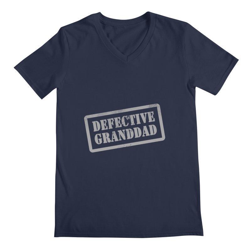 Defective Granddad Men's Regular V-Neck by Unhuman Design