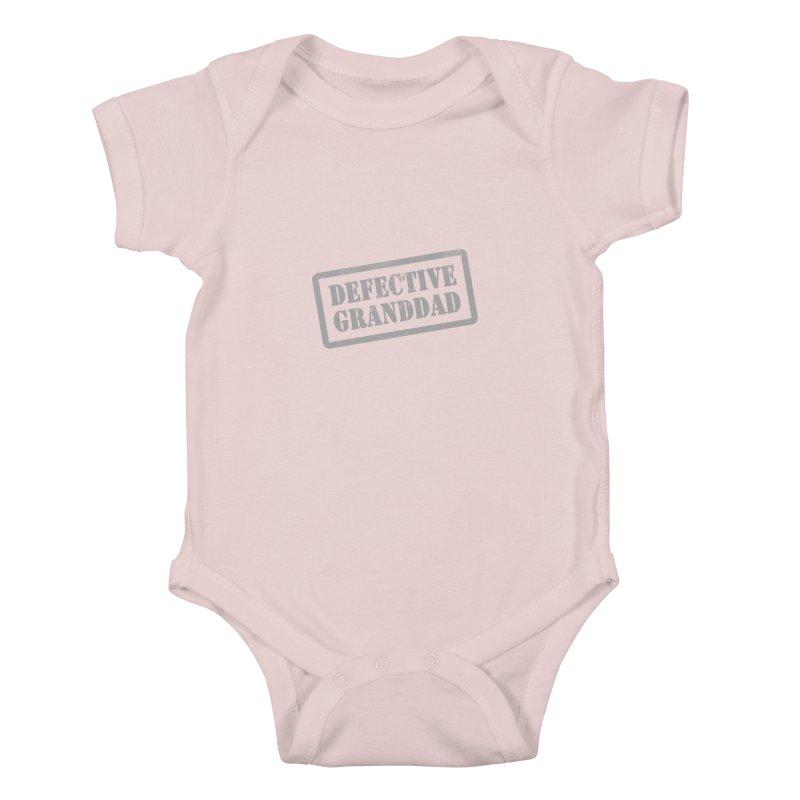 Defective Granddad Kids Baby Bodysuit by Unhuman Design
