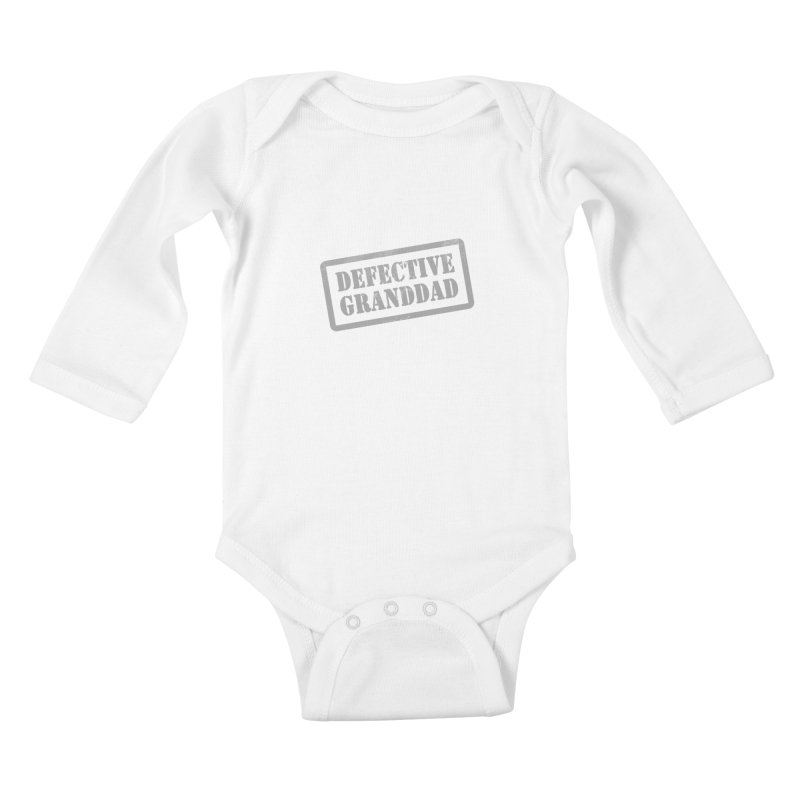 Defective Granddad Kids Baby Longsleeve Bodysuit by Unhuman Design