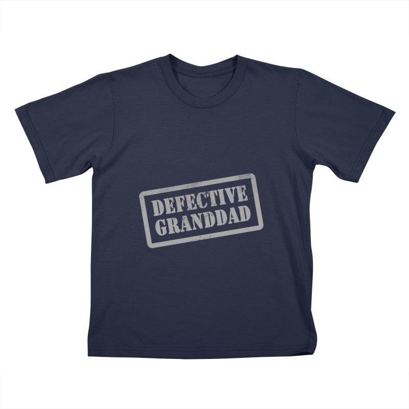Defective Granddad Kids T-Shirt by Unhuman Design