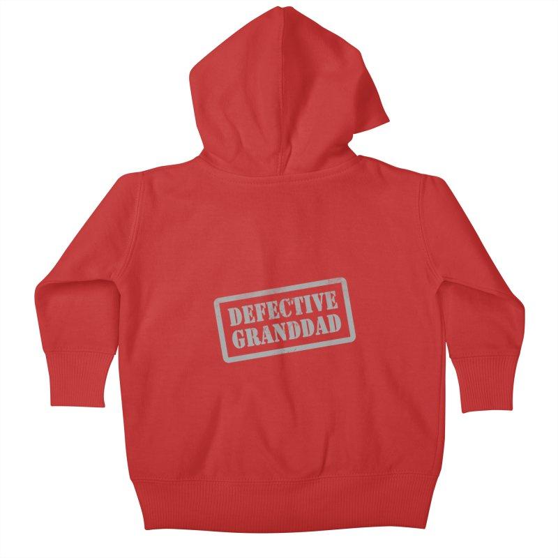 Defective Granddad Kids Baby Zip-Up Hoody by Unhuman Design