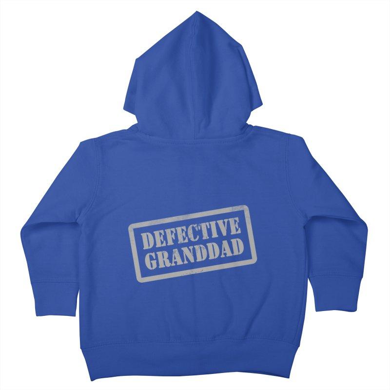 Defective Granddad Kids Toddler Zip-Up Hoody by Unhuman Design