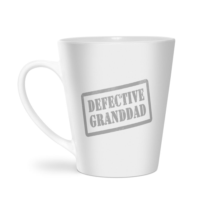 Defective Granddad Accessories Latte Mug by Unhuman Design