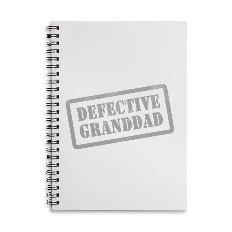 Defective Granddad Accessories Lined Spiral Notebook by Unhuman Design