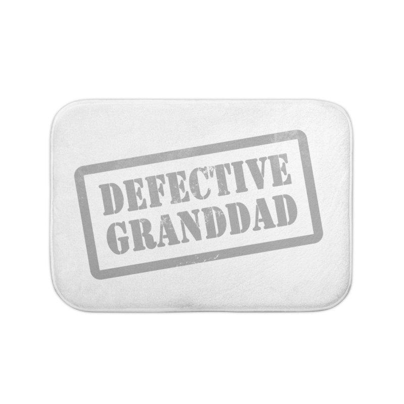 Defective Granddad Home Bath Mat by Unhuman Design
