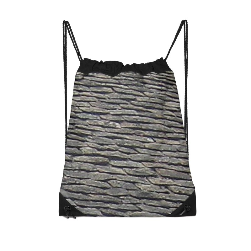 On the Tiles Accessories Drawstring Bag Bag by Unhuman Design