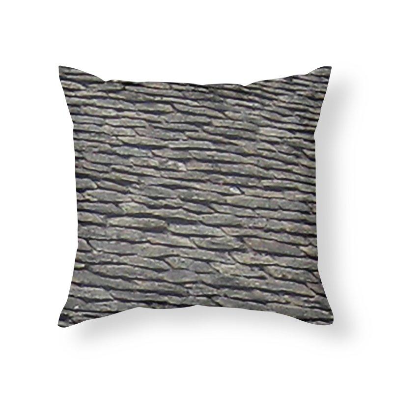On the Tiles Home Throw Pillow by Unhuman Design