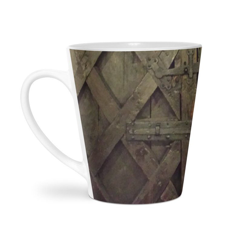 Black Door Accessories Latte Mug by Unhuman Design
