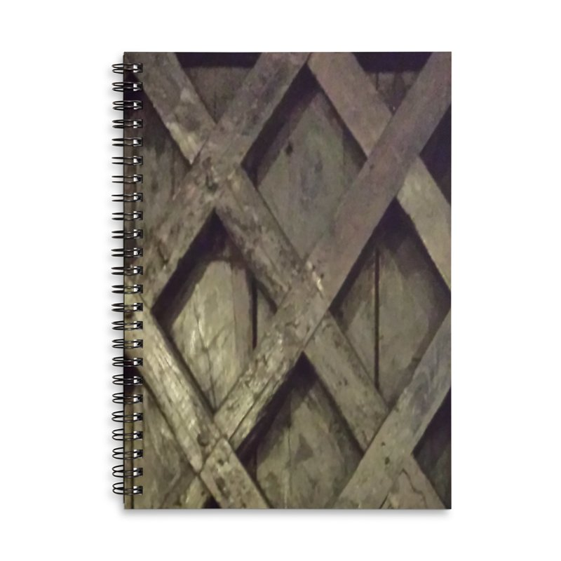 Black Door Accessories Lined Spiral Notebook by Unhuman Design