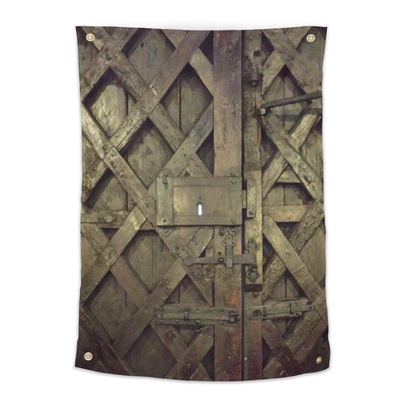 Black Door Home Tapestry by Unhuman Design