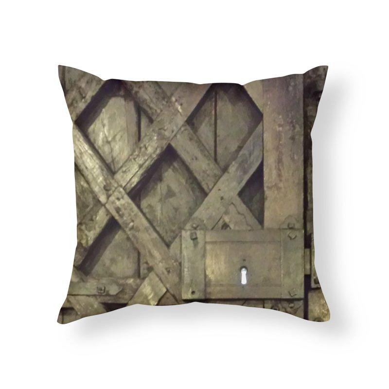 Black Door Home Throw Pillow by Unhuman Design