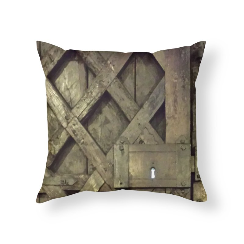 Black Door Home Throw Pillow by Unhuman Design