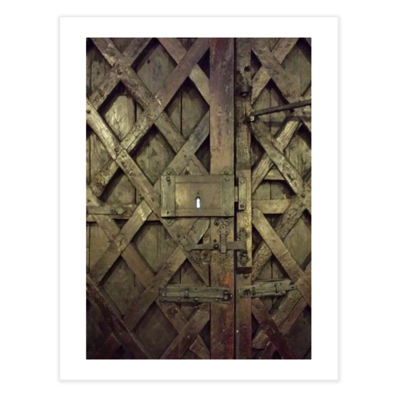 Black Door Home Fine Art Print by Unhuman Design
